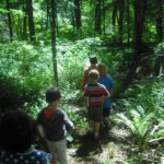 Campers enjoy our nature trail.