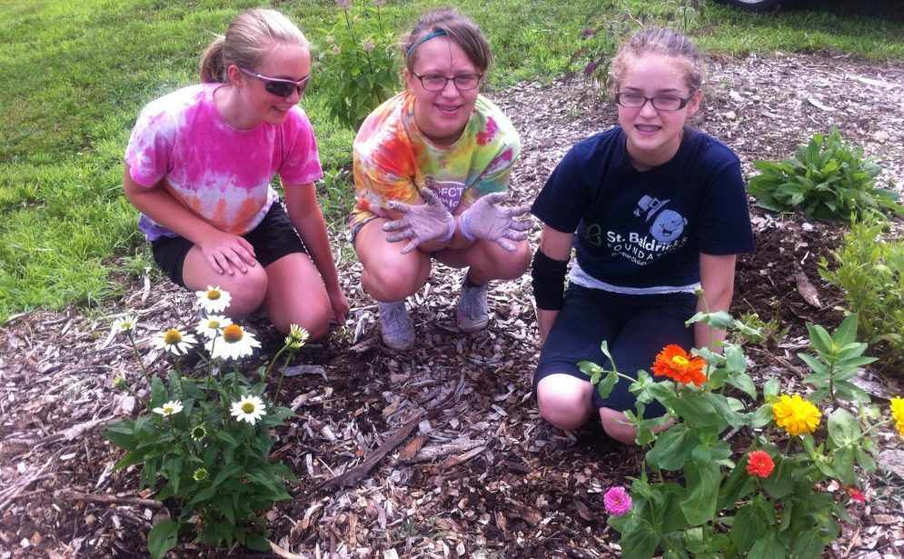 Girls scouts are about massaro community farm