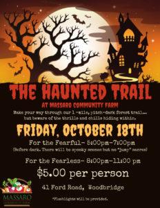 CANCELED- The Haunted Trail @ Massaro Community Farm
